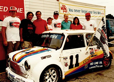 The 1989 Fortech Mini racing team