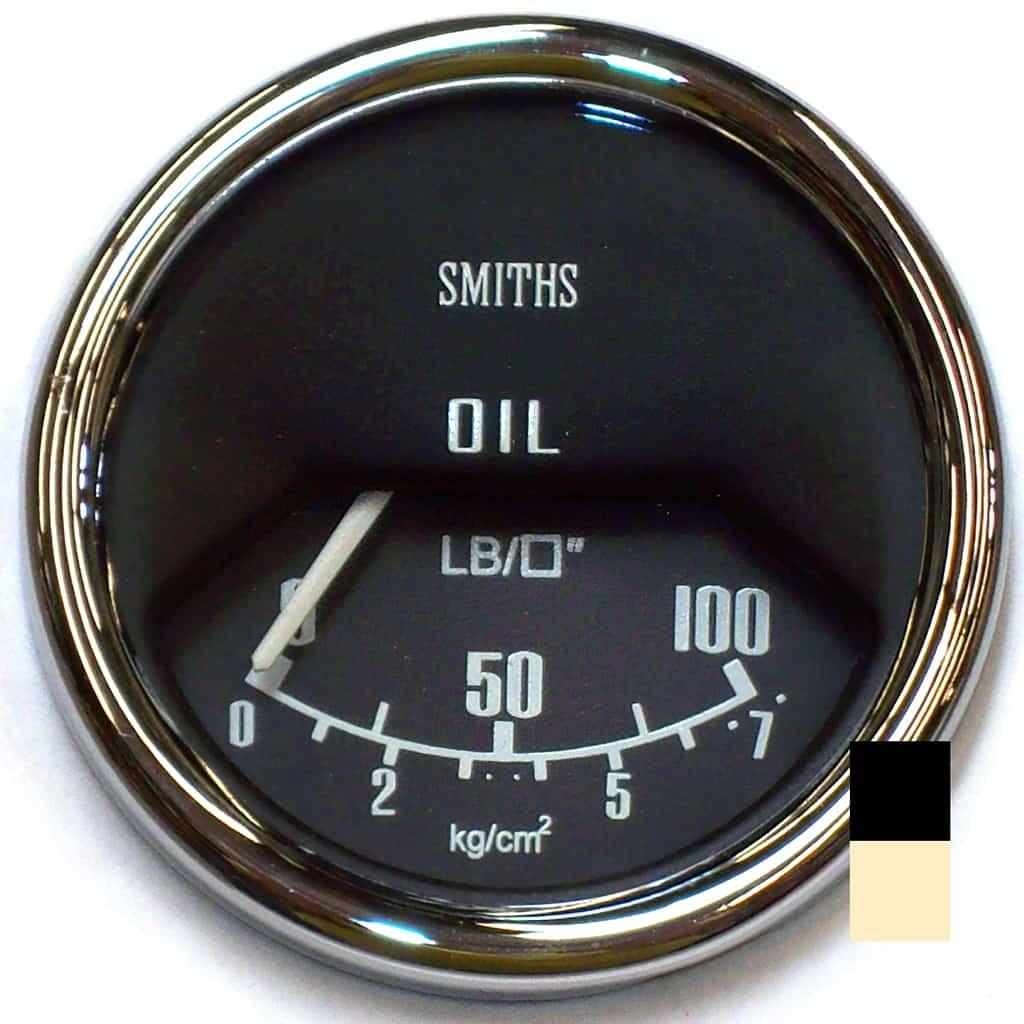 Oil Pressure Gauge, Mk2-on, Smiths, Black