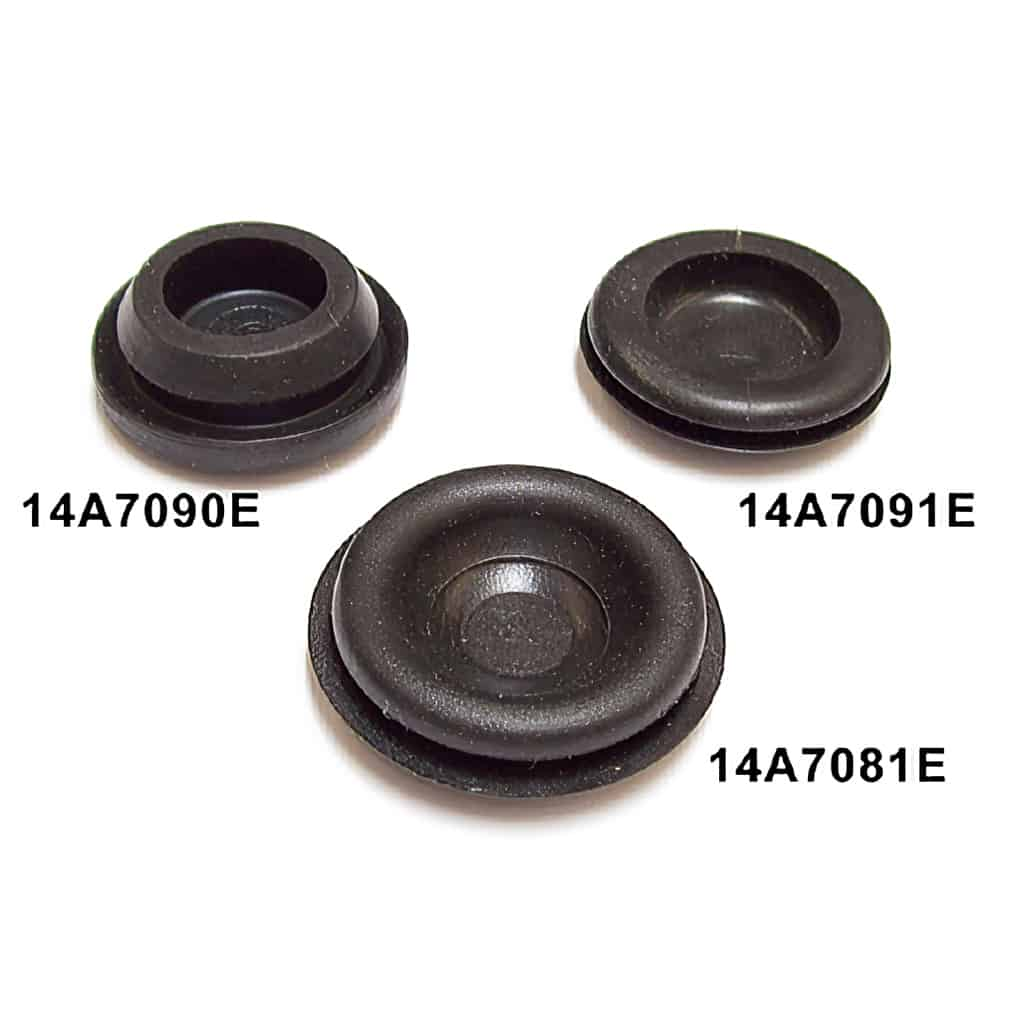 14A7081E floor plug, compared with 14A7090E and 14A7091E plugs (sold seperately)