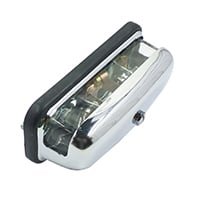 License Plate Lamp Assembly, Chrome