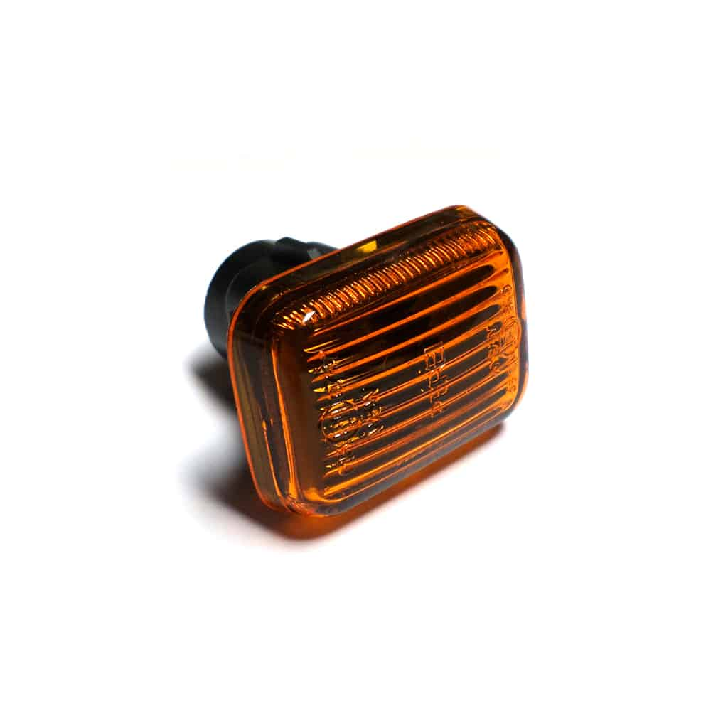 Lens, side marker lamp, amber, 1986-on
