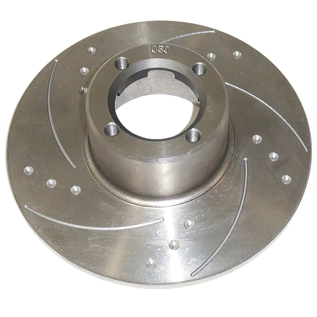 Brake Rotor, 8.4'', Dimpled & Slotted, Pair