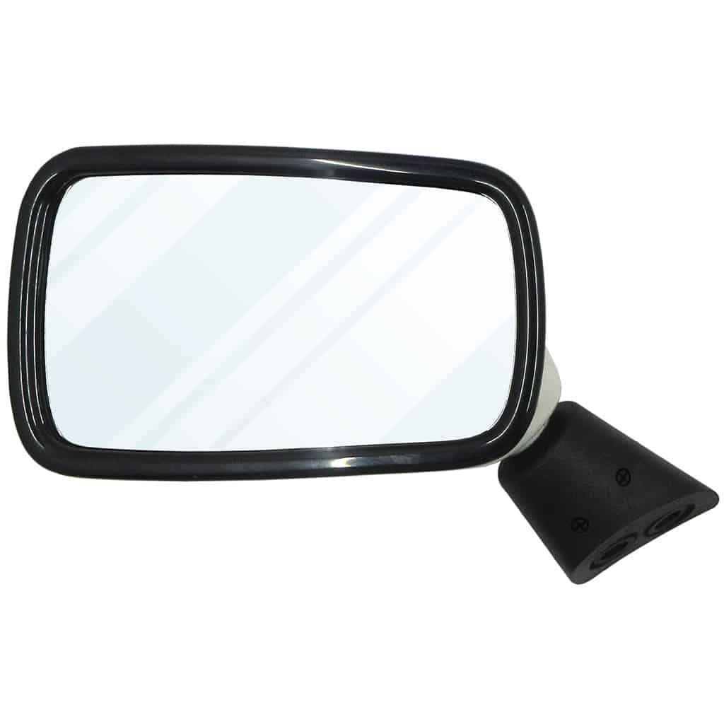 Door Mirror, Black w/ White