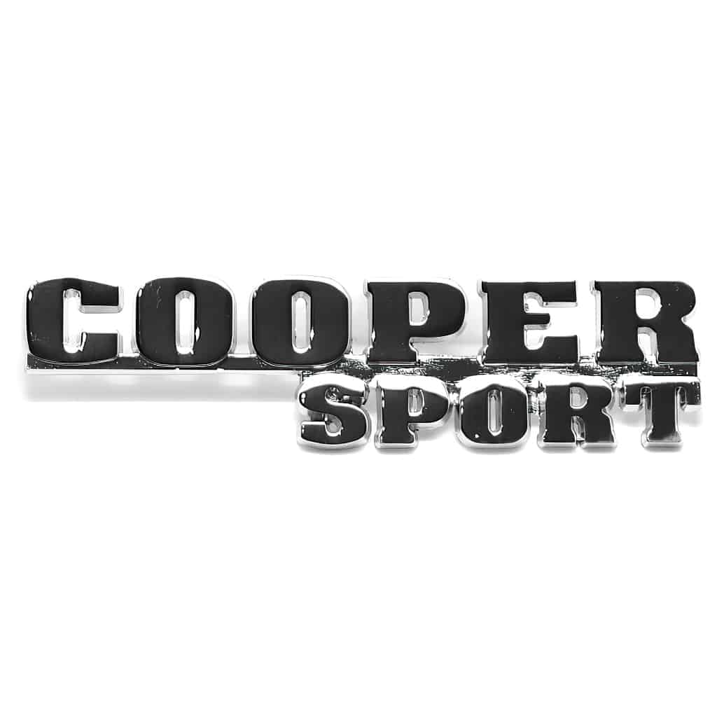 Boot Badge, ''Cooper Sport''