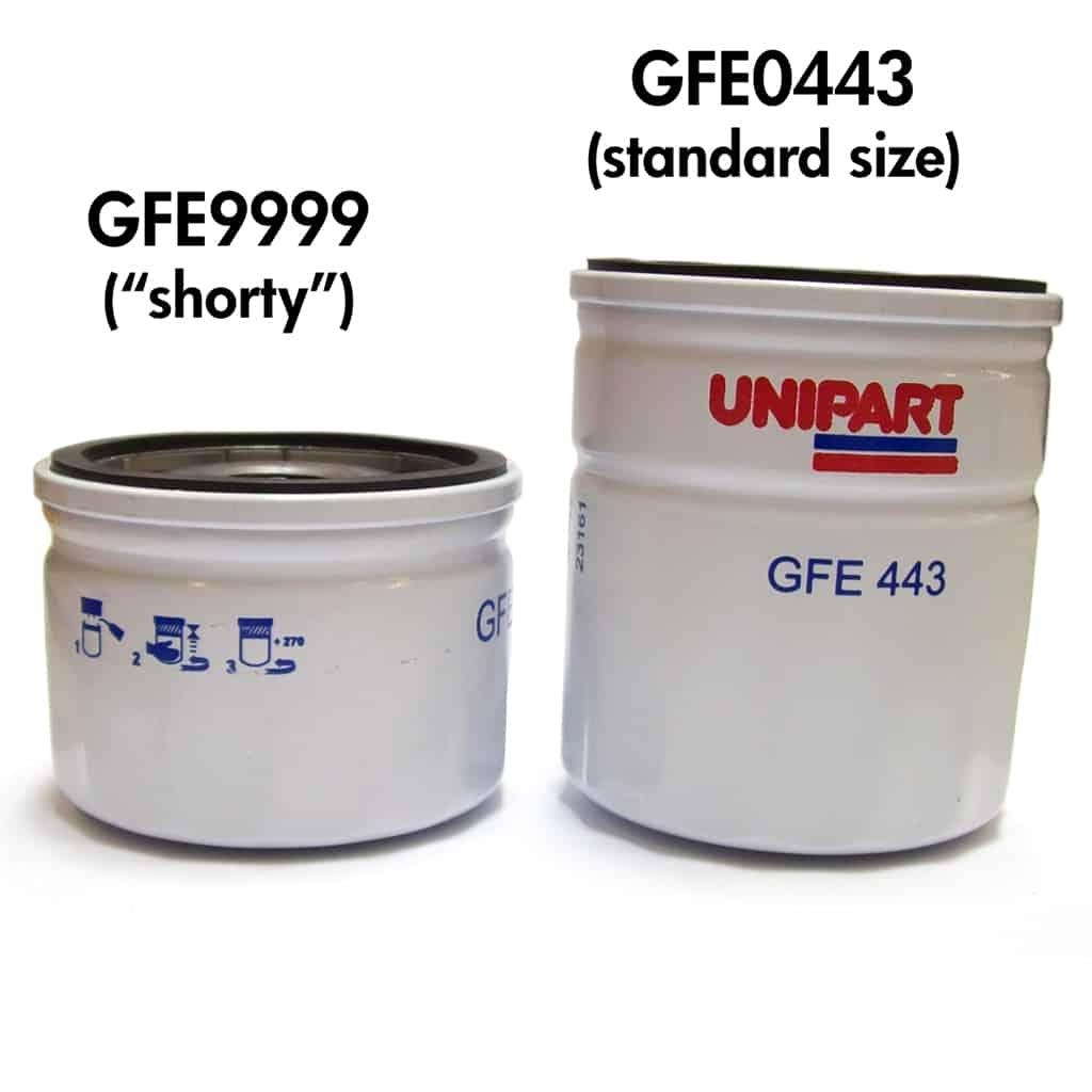 GFE9999 vs. GFE0443 size comparison