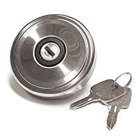 Locking Gas Cap, chrome, vented
