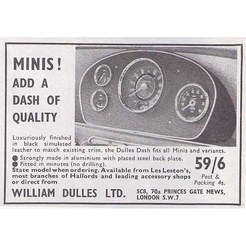Dulles Dash, original advertisement