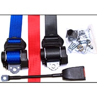 Seat Belt Kit, Rear, 3 Point Retractable, Colors