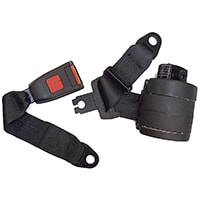 Seat Belt Kit, Rear, 3 Point Retractable, Black