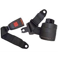 Seat Belt Kit, Rear, 3 Point Retractable, Black