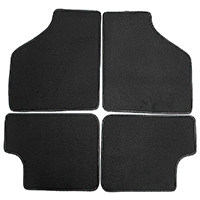 Floor Mat Set, 4-piece Deluxe, Black