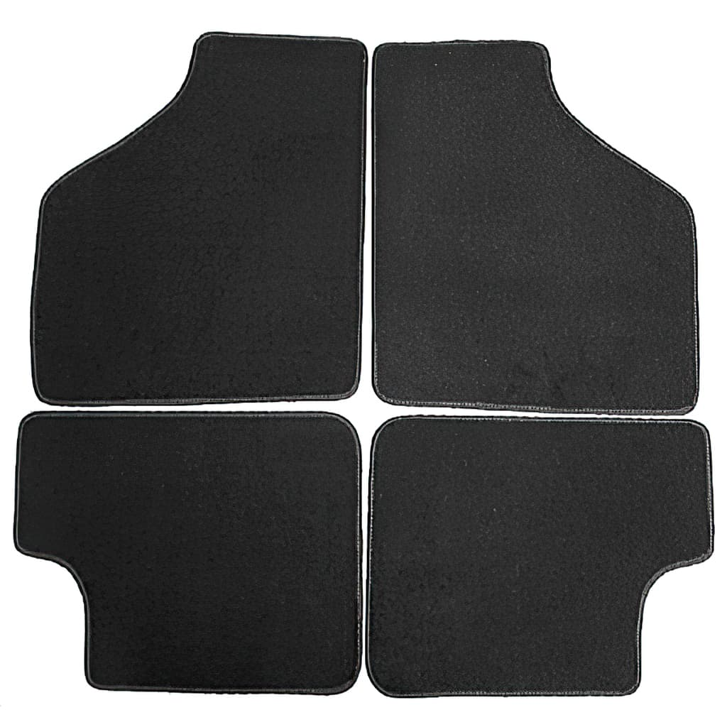 Floor Mat Set, 4-piece Deluxe, Black