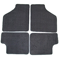 Floor Mat Set, 4-piece Deluxe, Grey