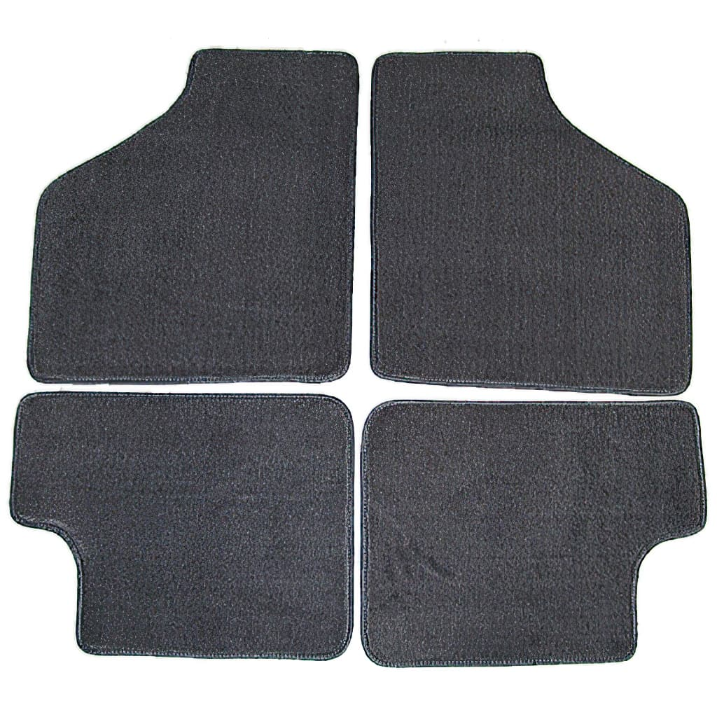 Floor Mat Set, 4-piece Deluxe, All Classic Minis, Grey