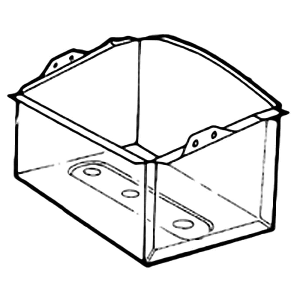 Battery Box Line Drawing