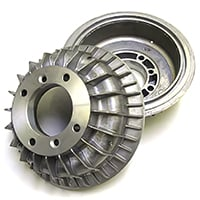 Brake Drums, Finned Aluminum, Pair