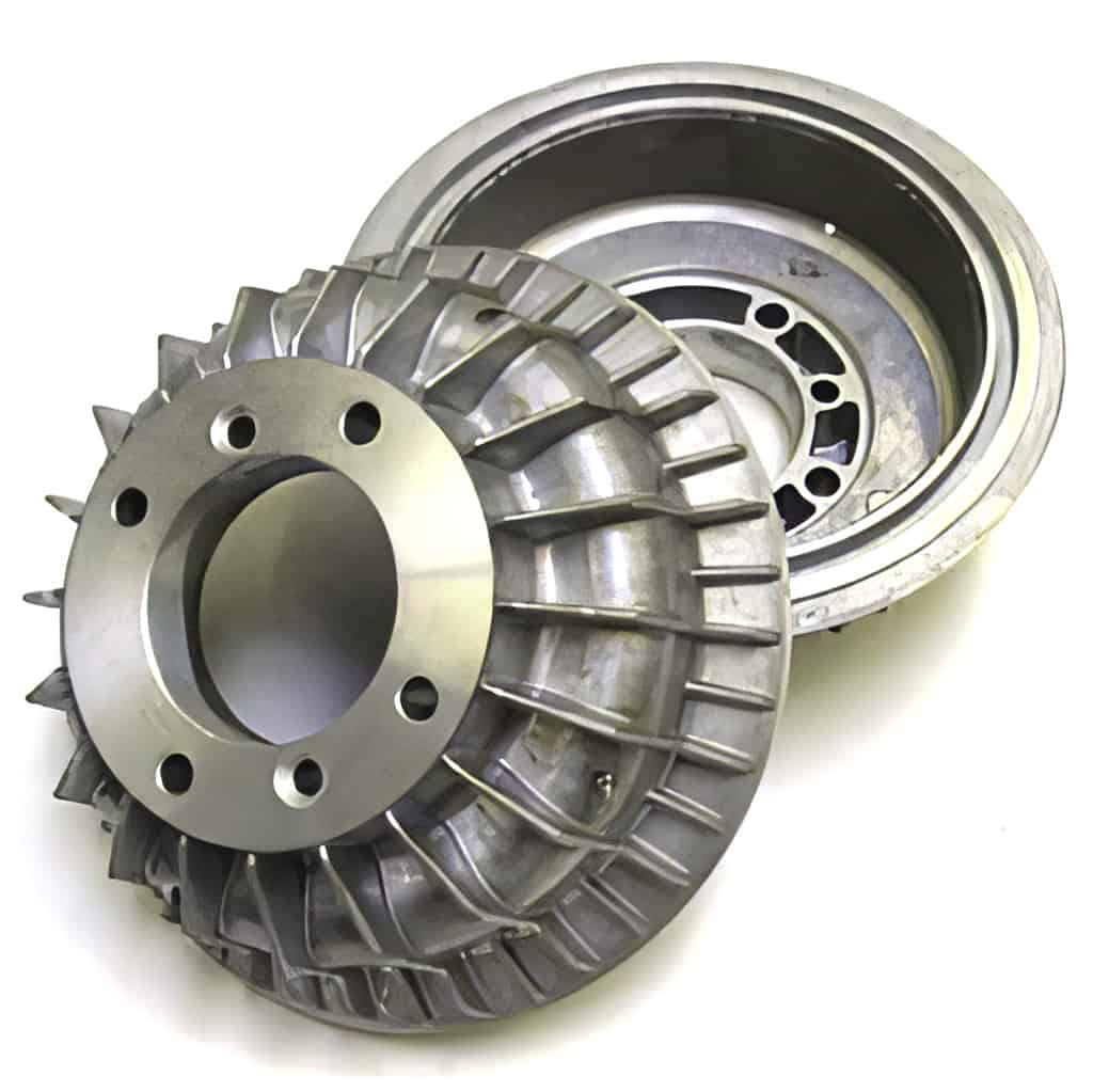 Brake Drums, Finned Aluminum, Pair (SBR0002E)
