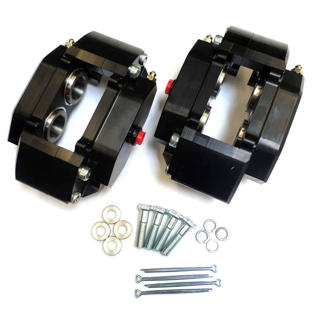 Caliper, Four Pot, Cast Aluminum, 10'' Wheels