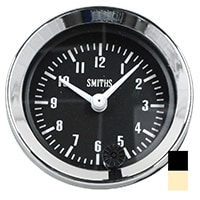 Clock, Smiths, 12-Hour, Black