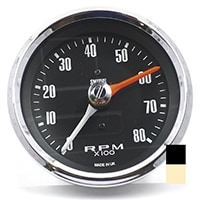 Tachometer, Smiths, Black