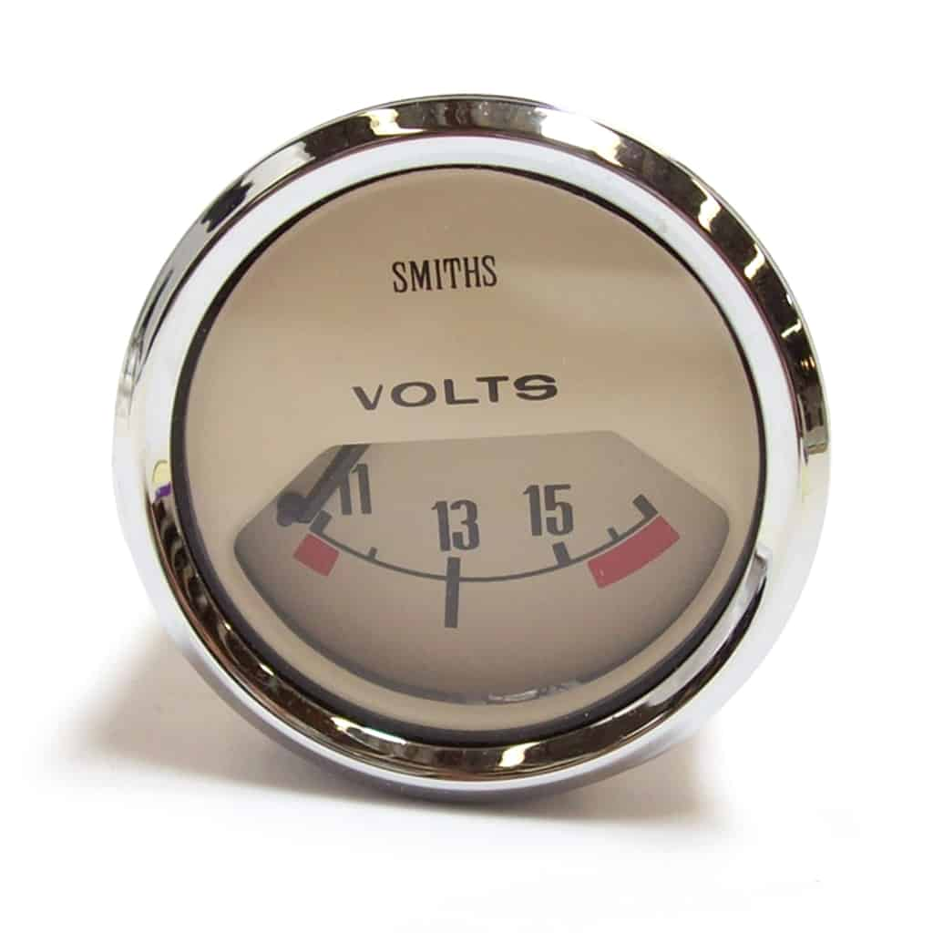 Volt Meter, 10-15, Smiths, Magnolia Face