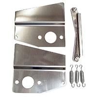 Heat Shield Kit, twin HS2, stainless